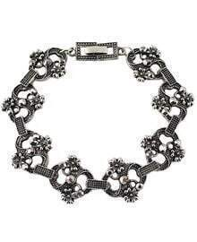 Silver Flower Fashion Bracelet