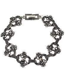 Silver Flower Fashion Bracelet