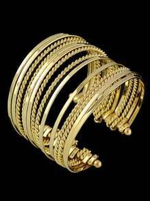 Gold Multilayers Cuff Bracelet