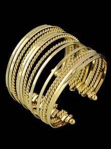 Gold Multilayers Cuff Bracelet