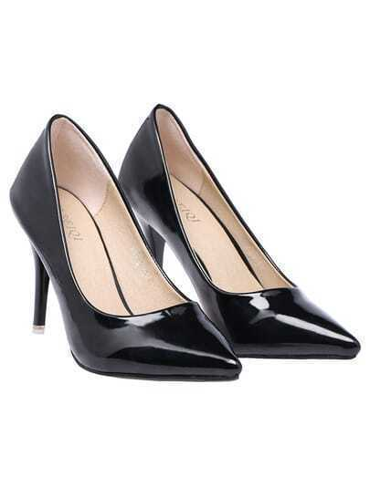 Black High Heel Point Toe Shoes