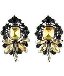 Yellow Gemstone Stud Earrings