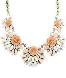 Gold Gemstone Rose Necklace