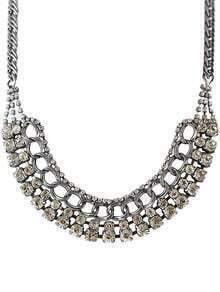 Silver Diamond Chain Necklace