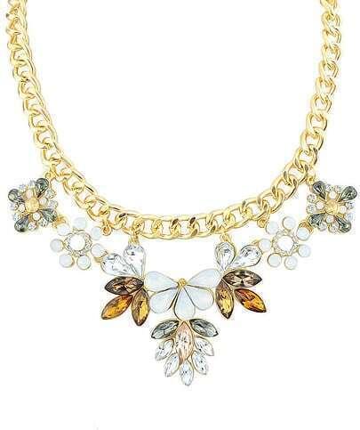 Gold Gemstone Chain Necklace