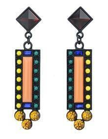 Multicolor Bead Gemstone Earrings