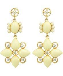 Yellow Drop Gemstone Earrings