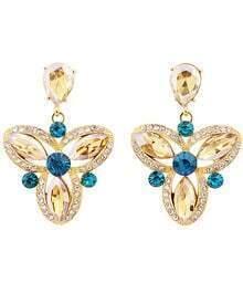 Yellow Gemstone Flower Earrings