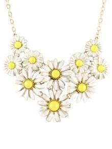 Yellow Gemstone Daisy Chain Necklace