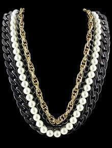 Multilayers Chain Bead Necklace