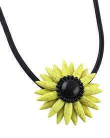 Yellow Gemstone Flower Necklace