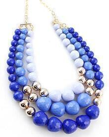 Blue Ombre Bead Necklace