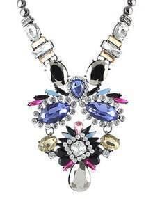 Multicolor Gemstone Silver Chain Necklace