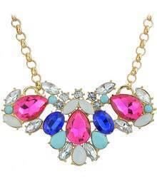 Multicolor Gemstone Chain Necklace