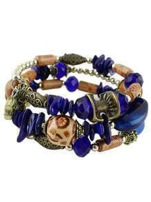 Blue Gemstone Vintage Bead Bracelet