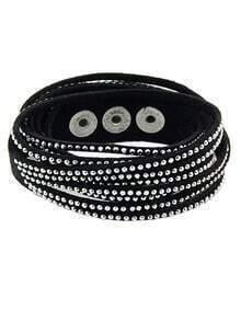 Black Diamond Multilayers Bracelet