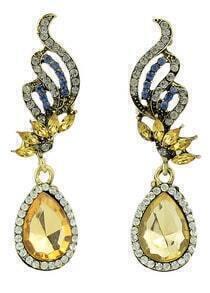 Yellow Drop Diamond Earrings