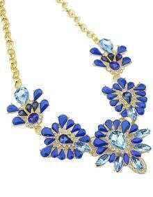 Blue Gemstone Chain Necklace