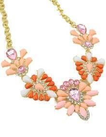 Orange Gemstone Chain Necklace