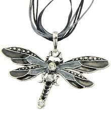 Black Diamond Dragonfly Necklace