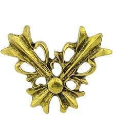 Gold Hollow Brooches