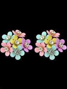 Multicolor Diamond Stud Earrings