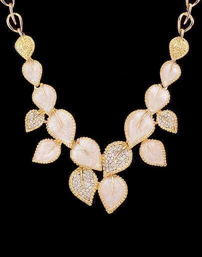 Gold Leaf Diamond Necklace