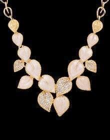 Gold Leaf Diamond Necklace