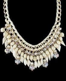 White Bead Chain Necklace