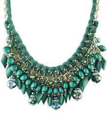 Green Bead Chain Necklace