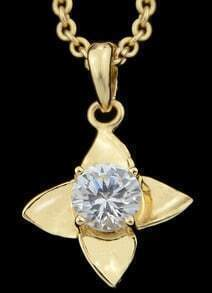Gold Diamond Pendant Necklace