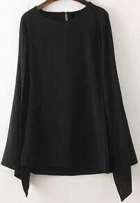 Black Split Sleeve Cape Dress