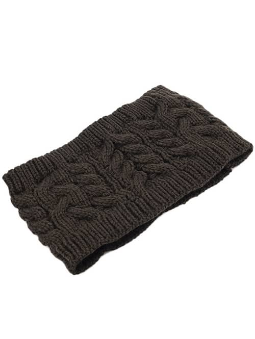 Brown Cable Knit Hat