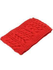 Red Cable Knit Hat