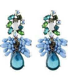 Blue Drop Gemstone Earrings