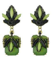 Green Gemstone Fashion Earrings