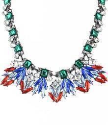 Multicolor Gemstone Chain Necklace