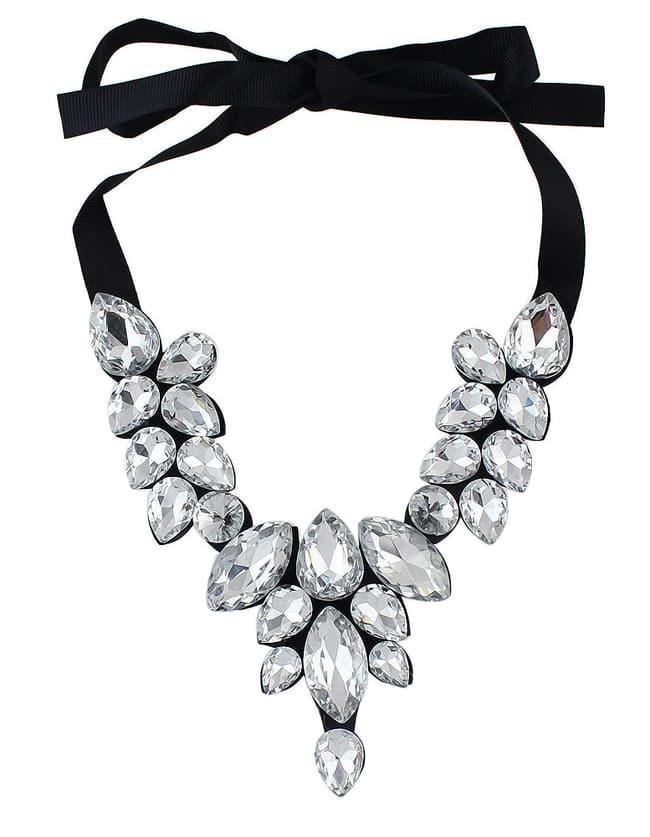 White Drop Gemstone Necklace