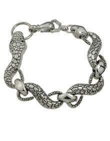 Silver Snake Link Bracelet