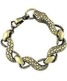 Copper Snake Link Bracelet