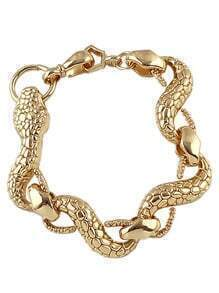 Gold Snake Link Bracelet