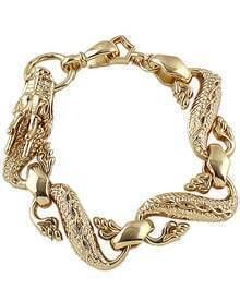 Gold Dragon Link Bracelet