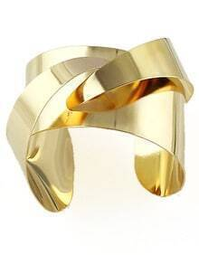Gold Irregular Cuff Bracelet