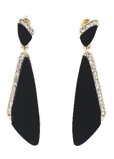 black triangle diamond dangle earrings shein sheinside. Black Bedroom Furniture Sets. Home Design Ideas