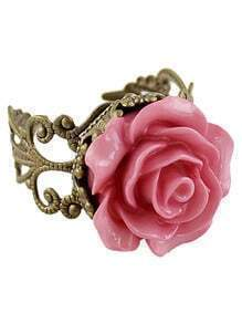 Pink Rose Retro Gold Ring