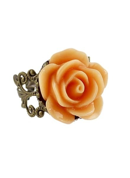Orange Rose Retro Gold Ring