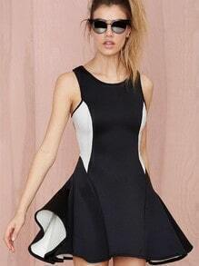 Black Sleeveless Flare Dress