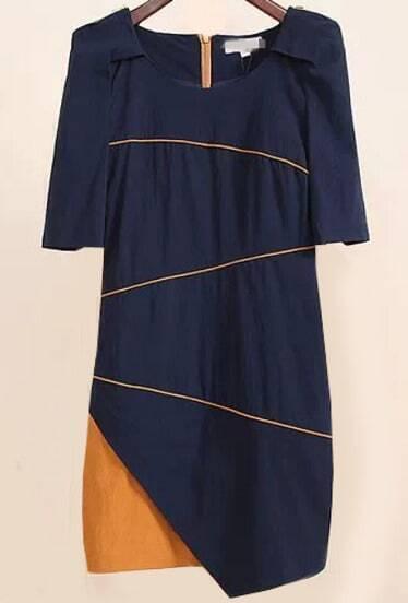 Colour-block Short Sleeve Bodycon Dress