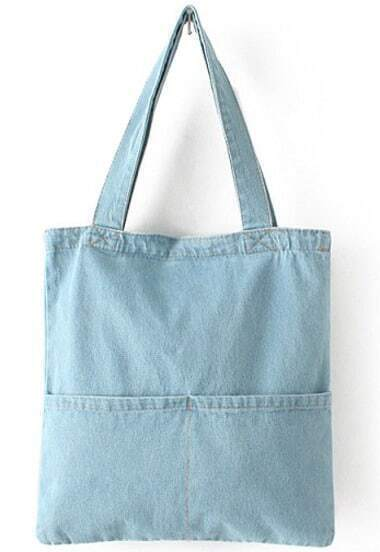 Blue Pockets Denim Bag
