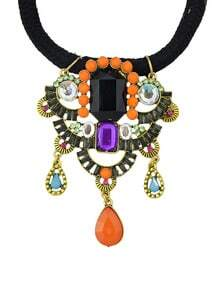 Multicolor Gemstone Pendant Necklace